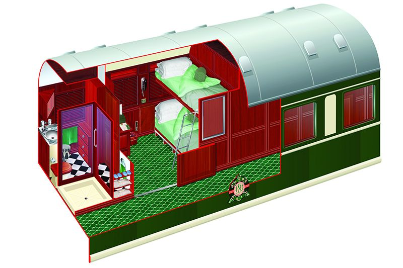 Rovos Luxury Train Africa - cabina twin Pullman disegno