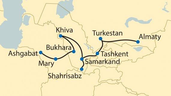 orient-silk-road-express-ashgabat-almaty-mappaitinerario