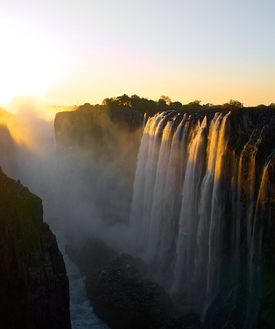 Sunset at the Victoria Falls